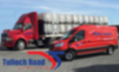 Bulk Truck, Chiller Van and Tulloch Road Logo