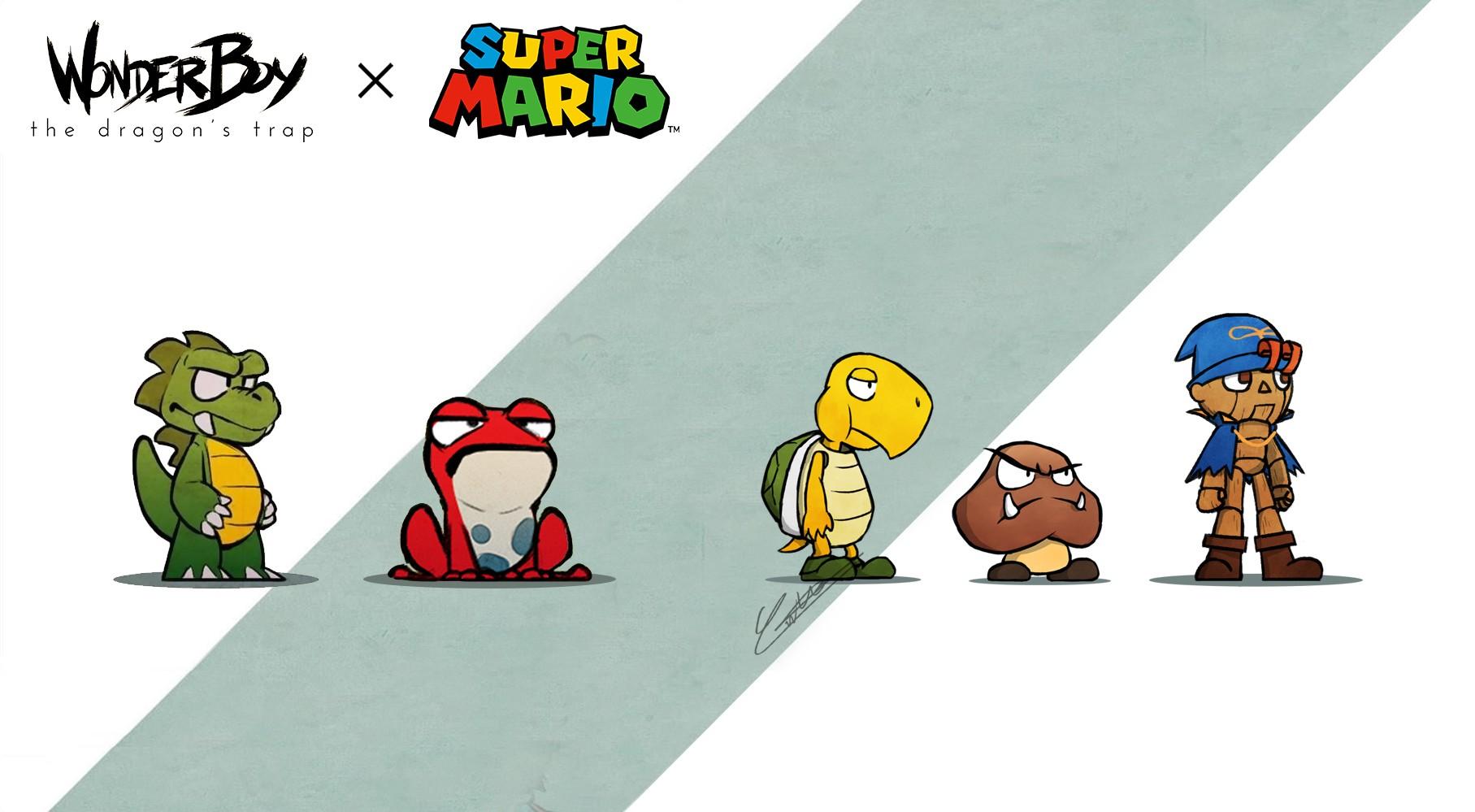 Wonder Boy x Super Mario