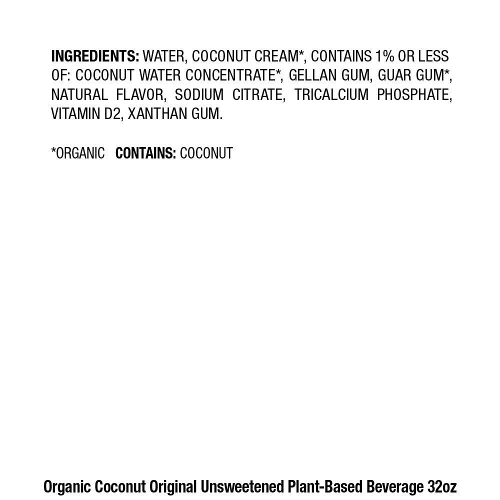 pacific foods organic cocnut unsweetened
