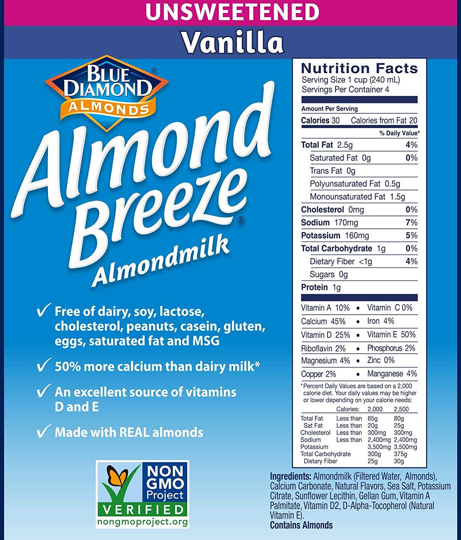 almond breeze vanilla photo