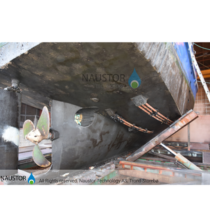 50 fot aluminiums båt  2 stk ultralyd sendere på hver side, 2 år i sjø. Før spyling