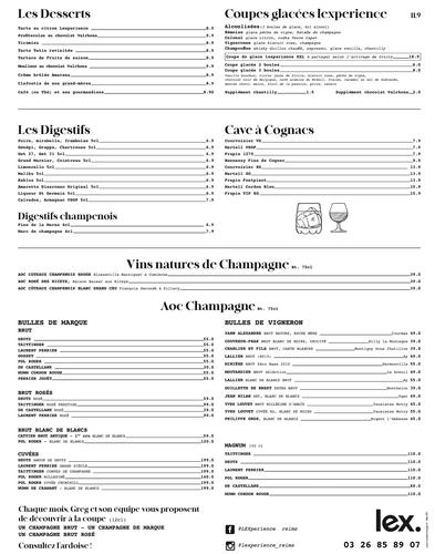4 Restaurant Reims Centre Place Erlon -