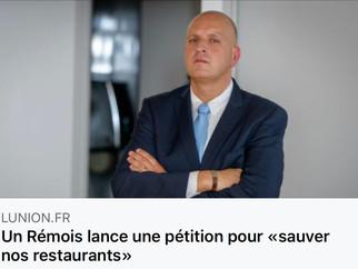 """Un Rémois lance une pétition pour """"sauver nos restaurants"""" - L'Union du 25/03/2020"""