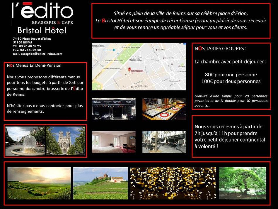 Hotel Le Bristol information groupe