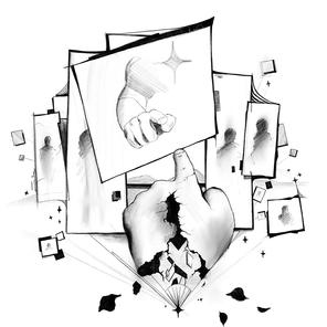Černobílá jednoduchá ilustrace