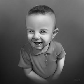 Černobílý realistický portrét