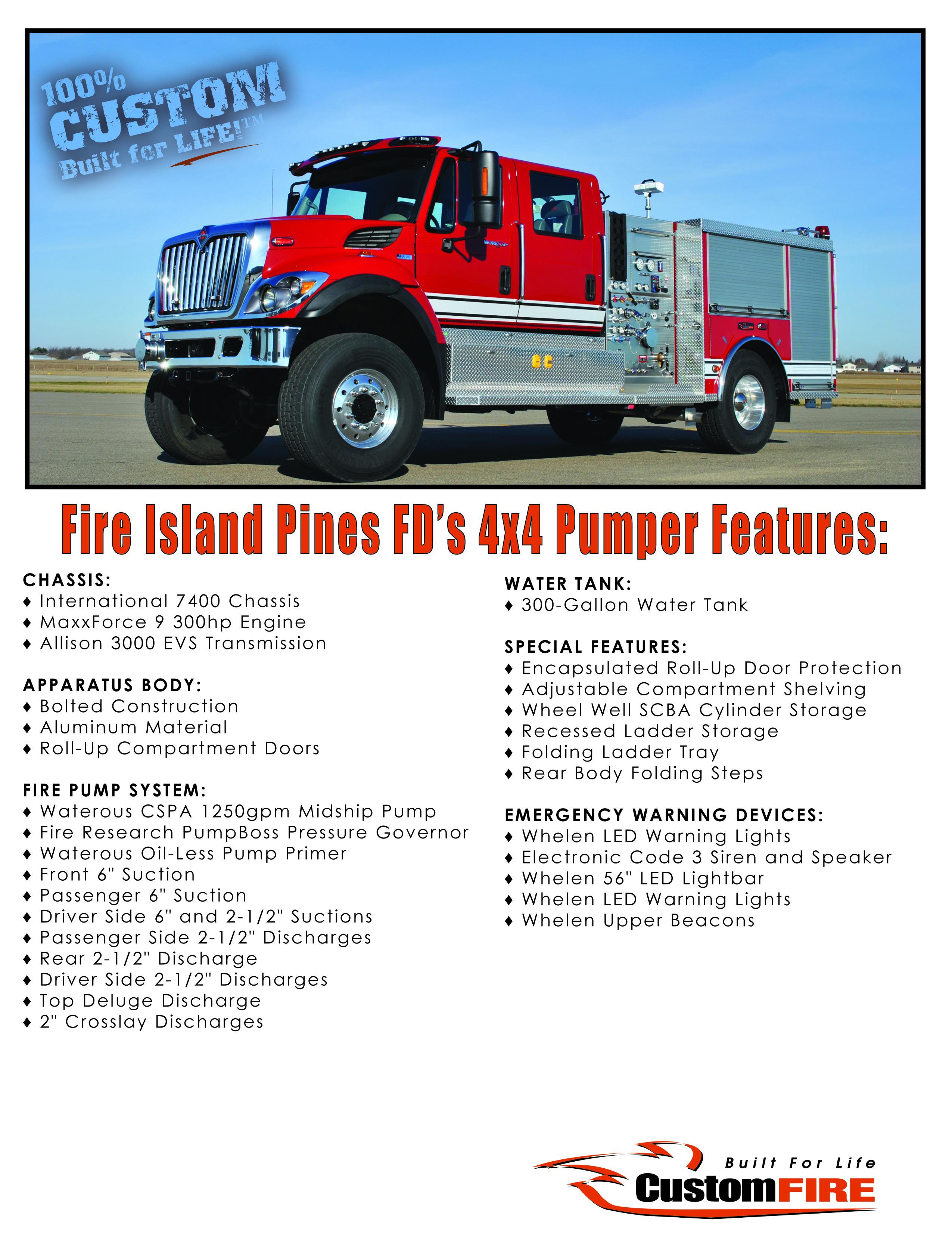 Fire Island Pines NY Vital Stats