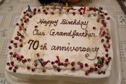 11月11生まれの会長のバースディケーキ