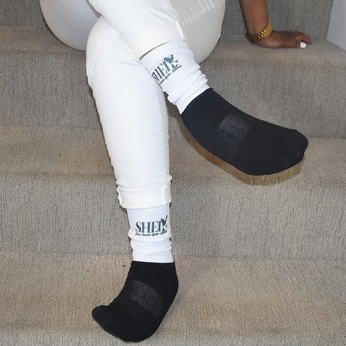 SHEI Sock (Black Logo)