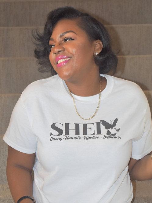 The SHEI Effect T-Shirt (Black Logo)
