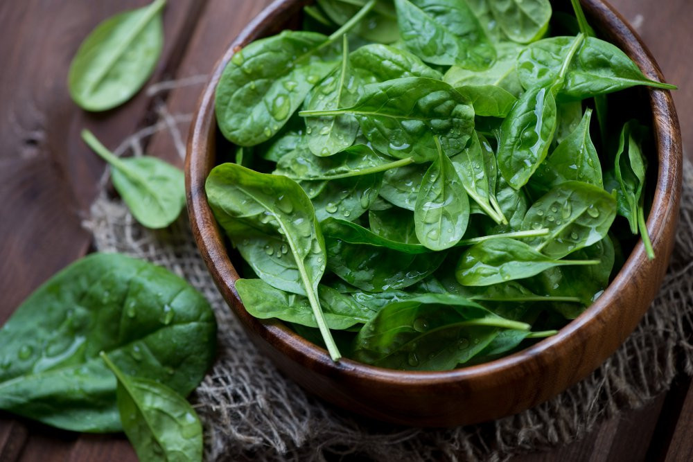 Spinach - Iron-rich foods - The optimal plant-based diet - The Art of Life