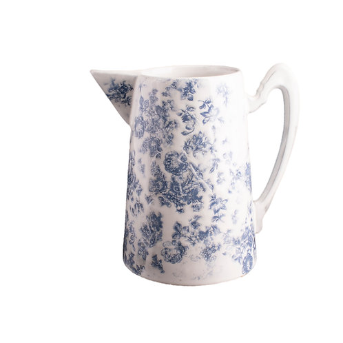 Grand Pitcher -Vintage Blue Floral