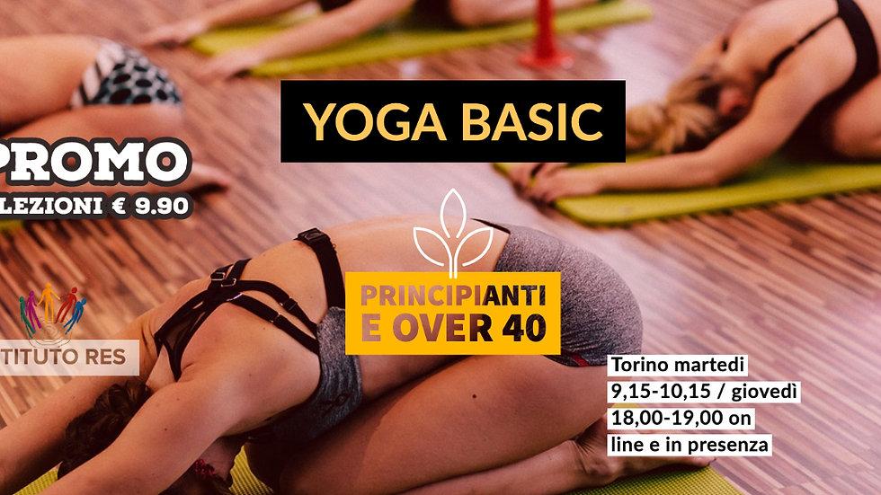 """Pacchetto """"Prima Volta"""" 3 lezioni di Yoga 1 corso"""