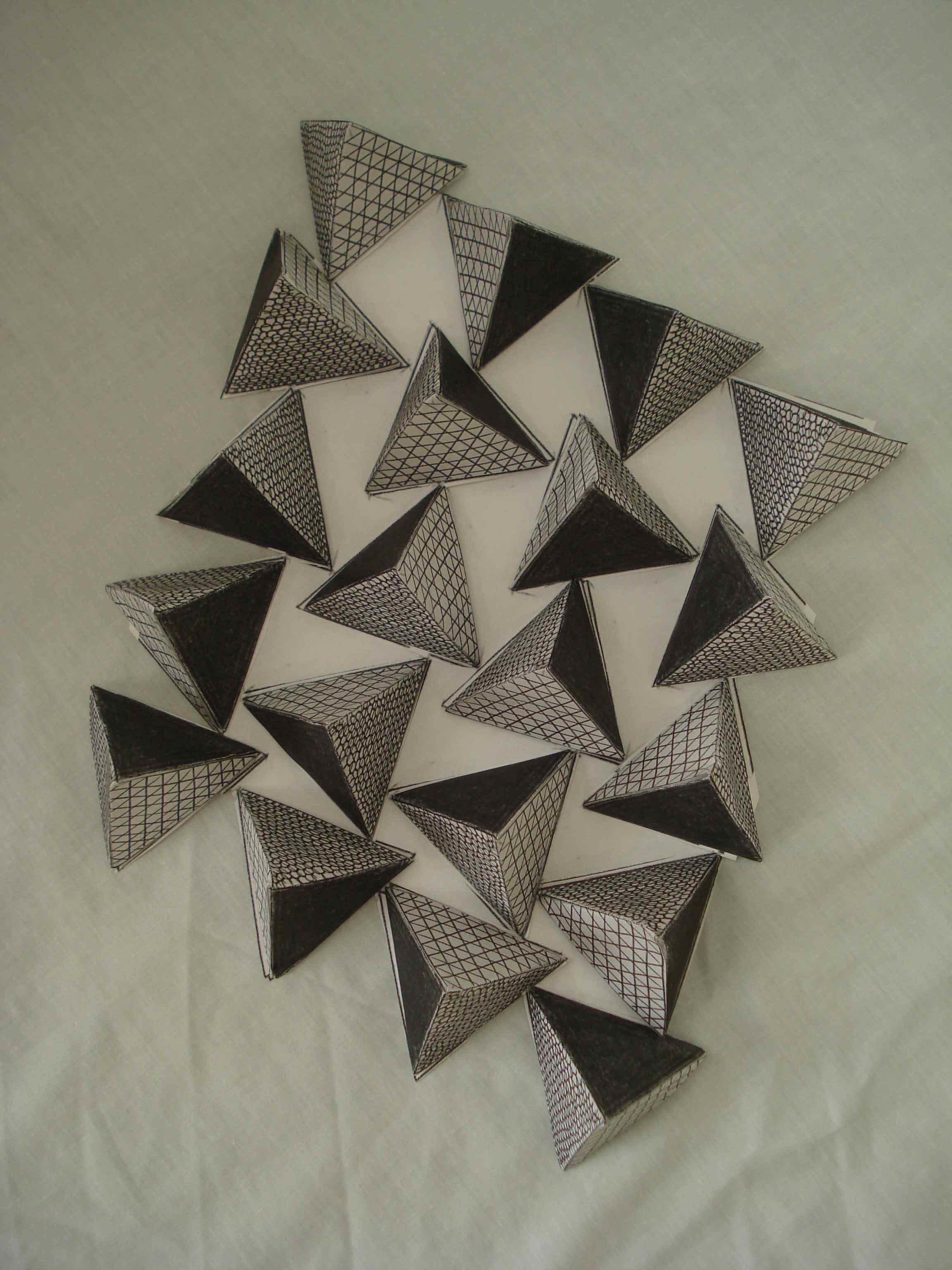 Tumbling tetrahedra, detail