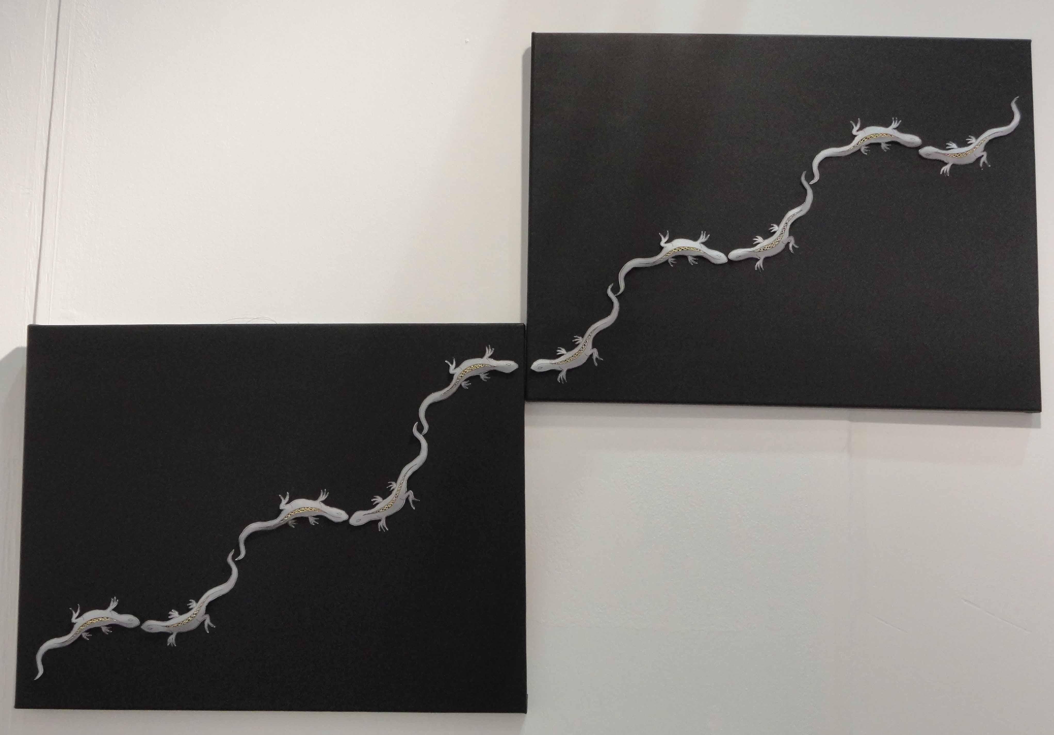 Lizard line- two half turns