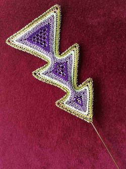 Rough diamonds brooch