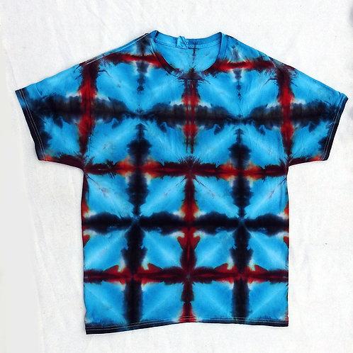 Blue Shibori Tie Dye - Size: L