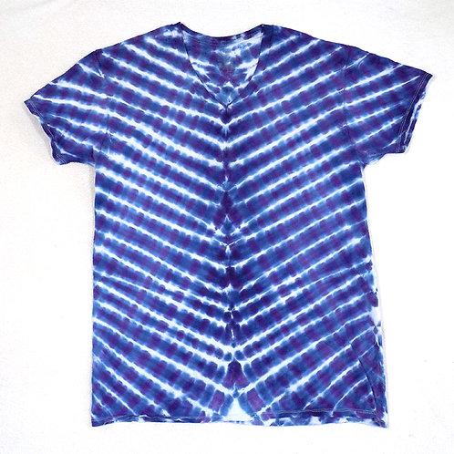 Deep Blue Vee- Size: L (V-Neck)