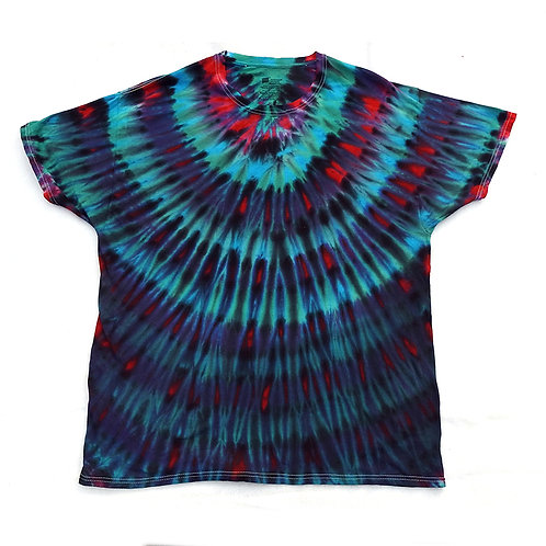 Dark Peacock Tie Dye - Size: XL