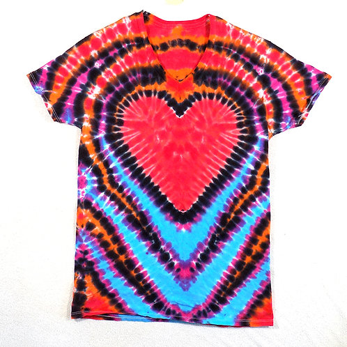 Bright Heart Red - Size: Sm (V-Neck)