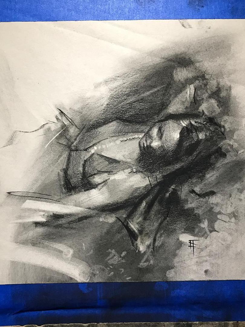CHarcoal. Life Drawing