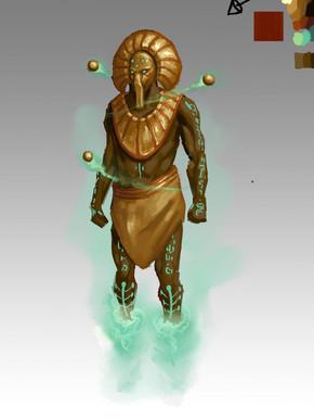 Concept. Ra the Sun God