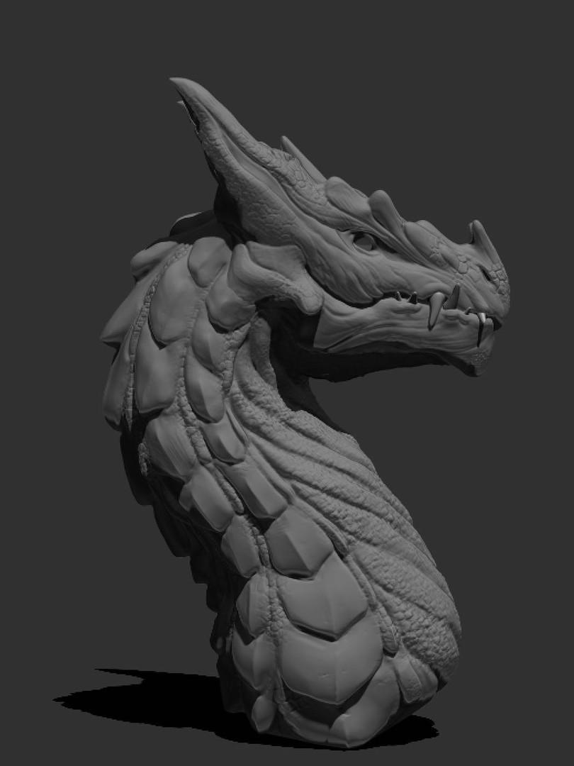 Digital Sculpt. Dragon