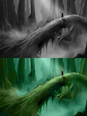 Concept. Dark Swamp