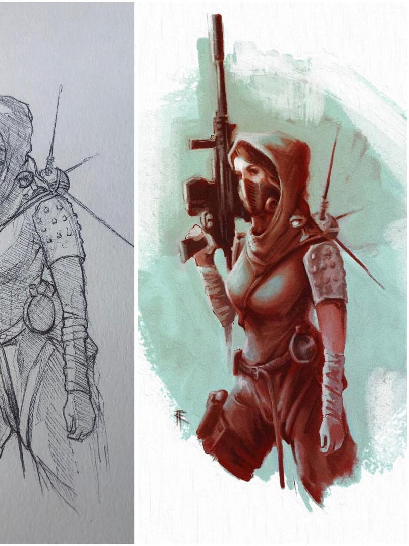 Concept. Raider Girl