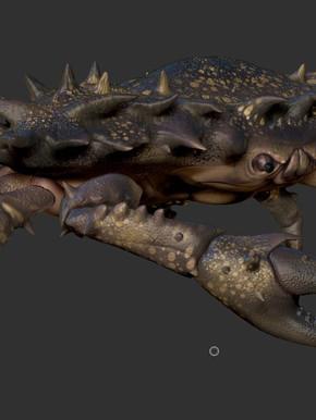 Digital Sculpt. Crab