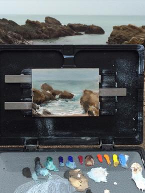 Painting. Plein Air at the Beach