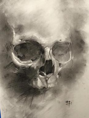 Charcoal. Skull 1