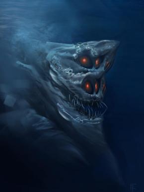 Concept. Underwater Horror
