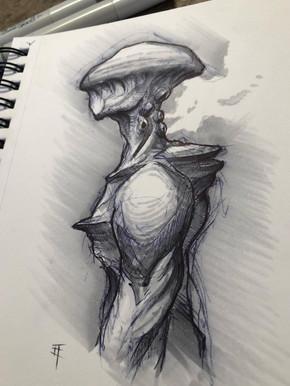 Concept. Fungi Beast