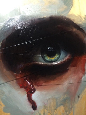 Painting. Bleeding Eye