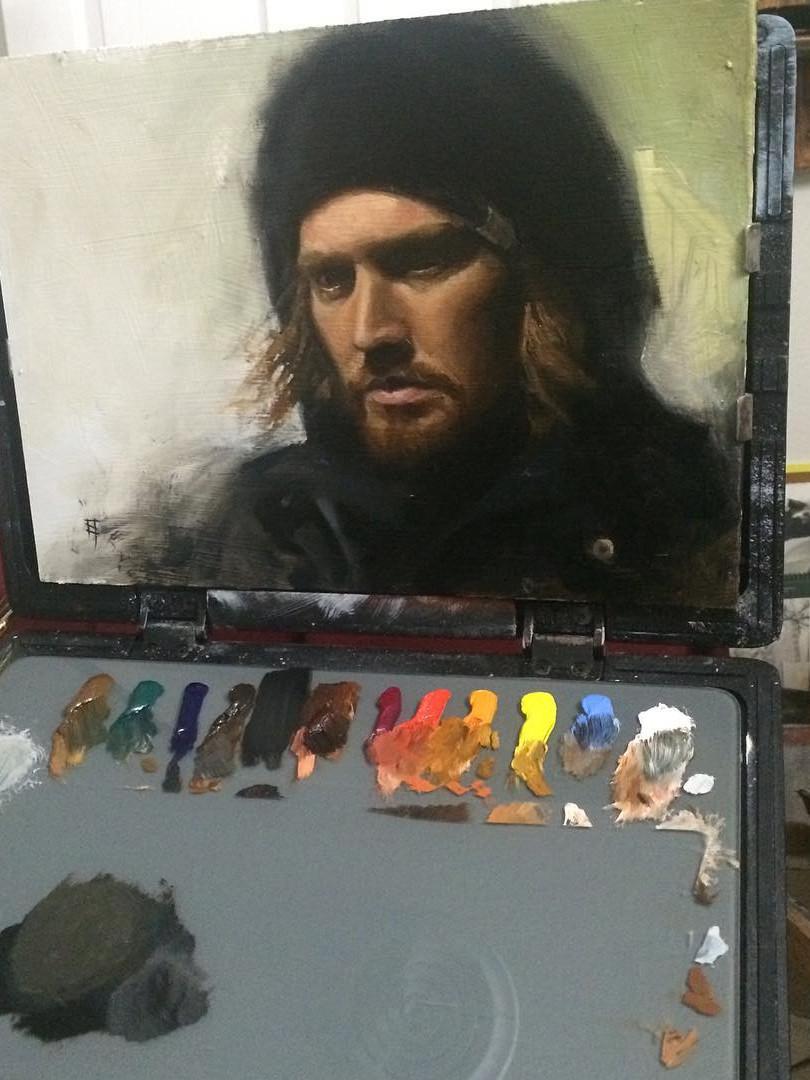 Painting. Selfie