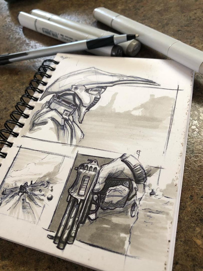 Pen/Marker. Comic 1