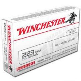 WINCHESTER .223  62 grain FMJ 20 round box