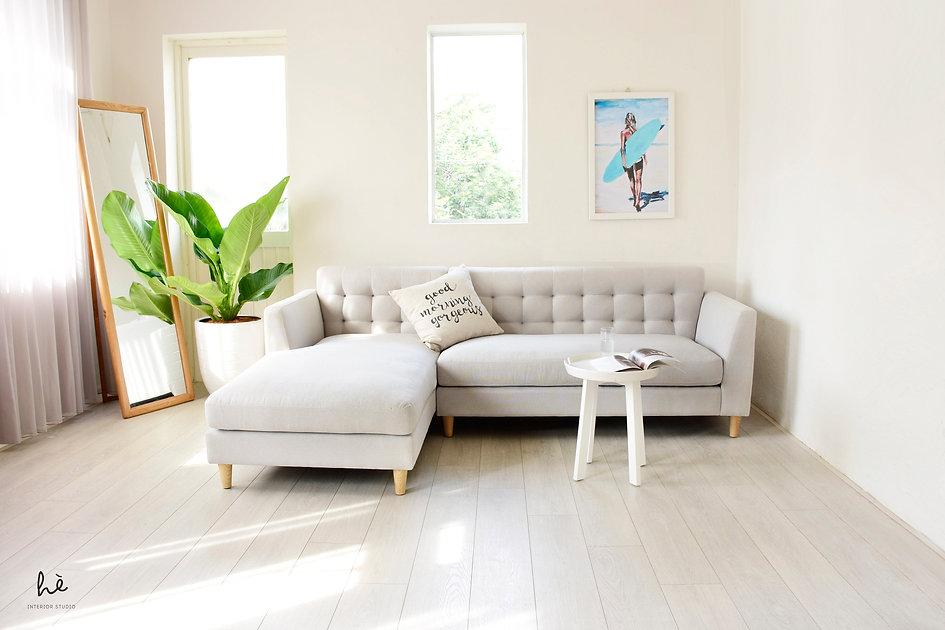 sofa góc dành cho căn hộ, hè studio