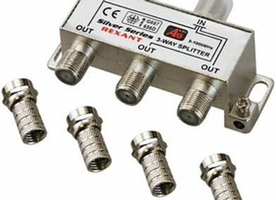 Разветвитель (сплиттер) антенный на 3ТВ, 5-1000МГц