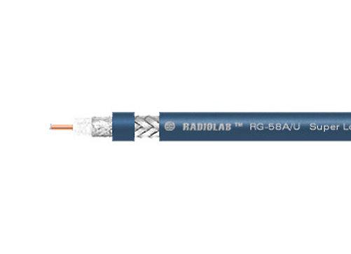 RADIOLAB RG-58 A/U PVC (blue) Коаксиальный кабель