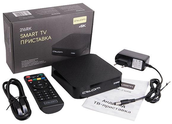 ТВ приставка ATOM-216RK Android TV Box 2/16Гб