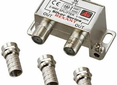 Разветвитель (сплиттер) антенный на 2ТВ, 5-1000МГц