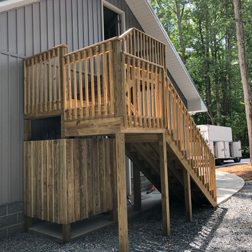 OUTDOOR SHOWER/STAIRS ADDITION
