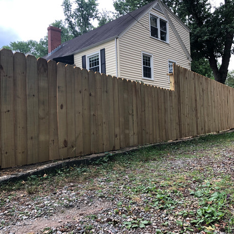 TERRACED 6-4' FEET PRIVACY FENCE