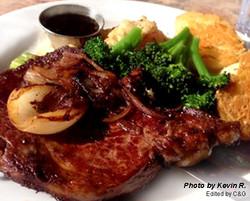 Angus Vin Mushroom Steak