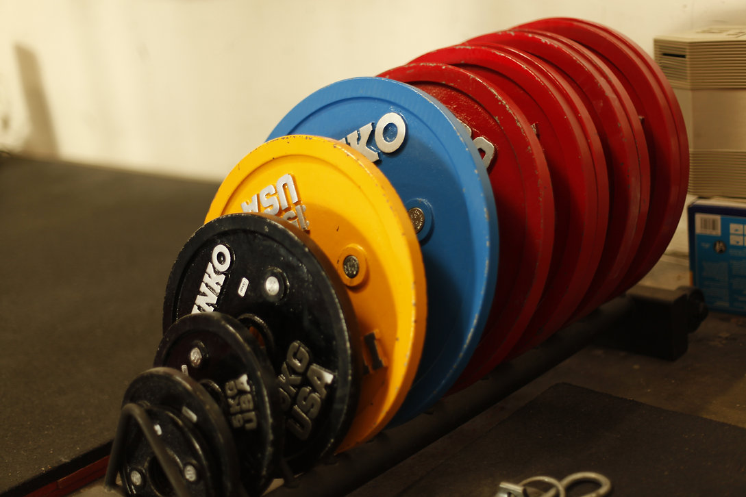 Backyard Barbell's competition kg plates