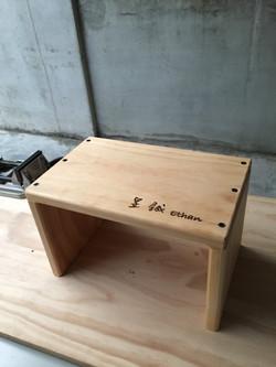 B復古原木凳