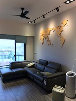 木頭世界地圖牆