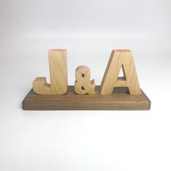 J&A 英文字母印章